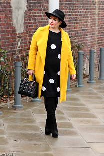 Yellow Coat & Polka Dots