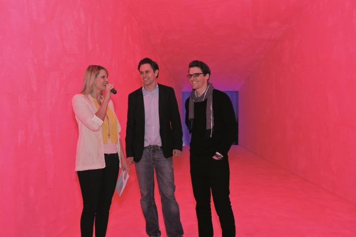 Das Shopping-Portal Fashionlocals geht an den Start und feiert die Launch-Party in München mit prominenten Gästen, Künstlern und Designern.Im Bild: Die Gründer und Geschäftsführer Markus Haggenmiller (Mitte) und Andreas Muscheid (rechts)